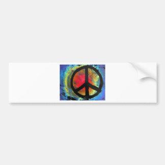 Pegatina Para Coche Pintura del signo de la paz del arco iris del arte
