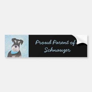 Pegatina Para Coche Pintura (miniatura) del Schnauzer - perro original