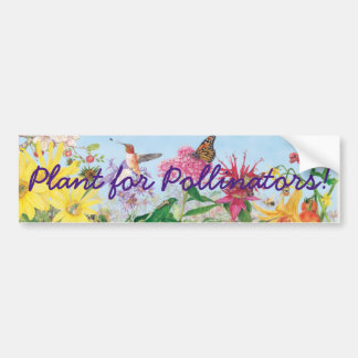 Pegatina Para Coche ¡Planta para las donadoras de polen!
