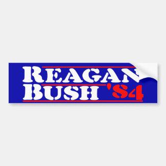 Pegatina Para Coche Plantilla de Reagan Bush '84