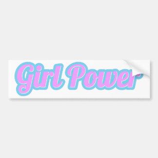 Pegatina Para Coche Poder del chica rosa claro y azul claro
