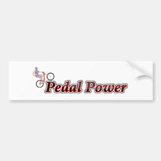 Pegatina Para Coche Poder del pedal