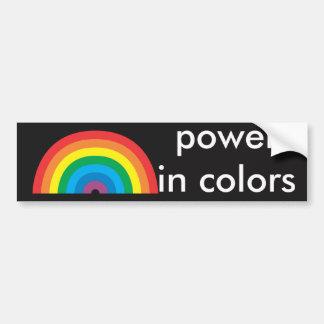 Pegatina Para Coche poder en colores