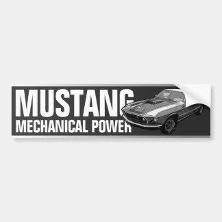 Pegatina Para Coche Poder mecánico del mustango