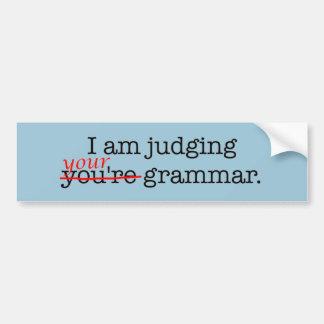 Pegatina Para Coche Policía chistosa de la gramática