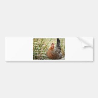 Pegatina Para Coche pollo en su corazón