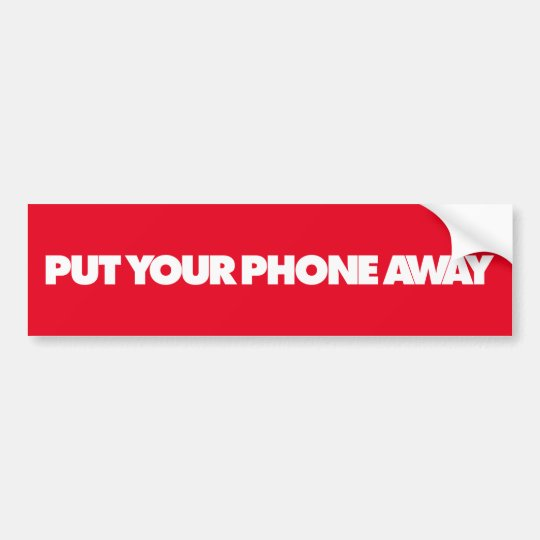 Pegatina Para Coche Ponga su teléfono ausente