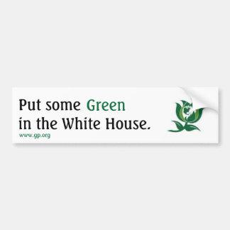 Pegatina Para Coche Ponga un cierto verde en la Casa Blanca v2
