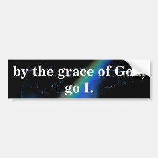 PEGATINA PARA COCHE POR LA GRACIA DE DIOS