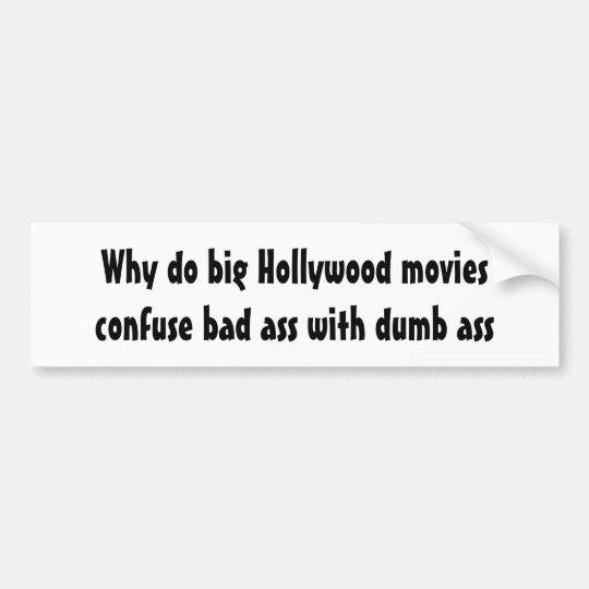 Pegatina Para Coche Porqué haga las películas confunden el mún asno