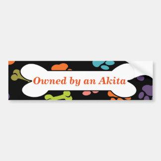Pegatina Para Coche Poseído por un Akita