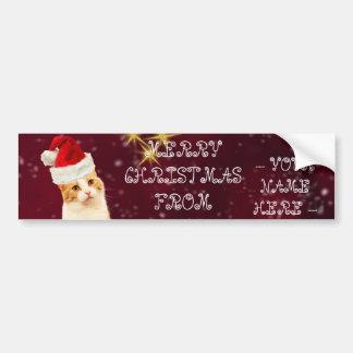 Pegatina Para Coche Postal conocida adaptable de los saludos del gato