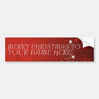 Pegatina Para Coche Postal del navidad con nombre de encargo - añada