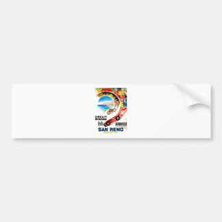 Pegatina Para Coche Poster 1947 de la raza de San Remo Grand Prix