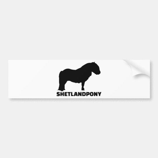 Pegatina Para Coche Potro de Shetland