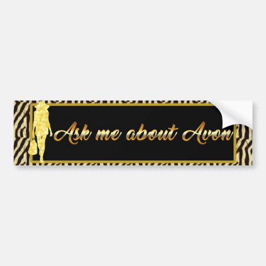 Pegatina Para Coche Pregúnteme acerca de Avon, tigre del oro