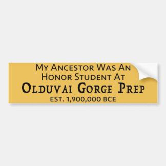 Pegatina Para Coche Preparación de la garganta de Olduvai