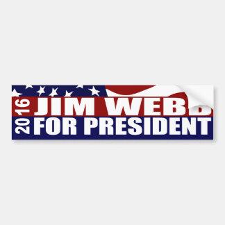 Pegatina Para Coche Presidente 2016 de WEBB de JIM