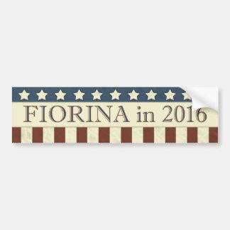 Pegatina Para Coche Presidente de Carly Fiorina en 2016