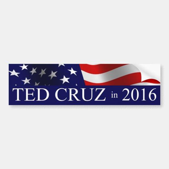 Pegatina Para Coche Presidente de Ted Cruz en 2016
