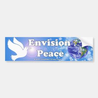Pegatina Para Coche Prevea la paz