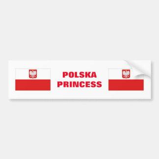 PEGATINA PARA COCHE PRINCESA DE POLSKA