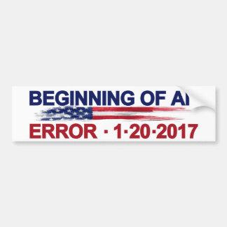 Pegatina Para Coche Principio de un error 1-20-2017