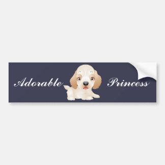 Pegatina Para Coche Productos múltiples adorables del perro de perrito