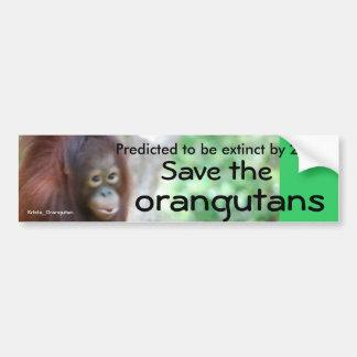 Pegatina Para Coche Protección animal de la fauna