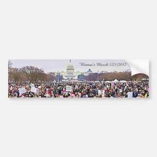 Pegatina Para Coche Protesta del Anti-Triunfo de marzo de las mujeres