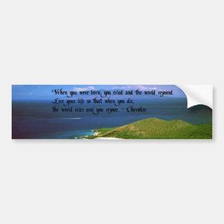 Pegatina Para Coche Proverbio del indio del nativo americano