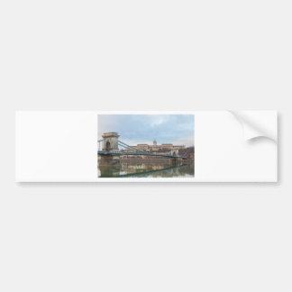 Pegatina Para Coche Puente de cadena con el castillo Hungría Budapest