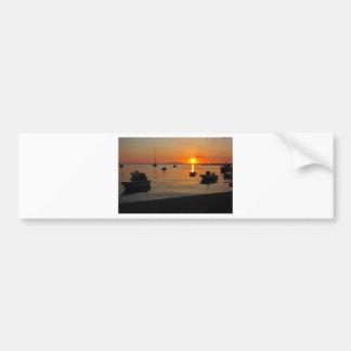 Pegatina Para Coche Puesta de sol al puerto de Novalja n iKroatien