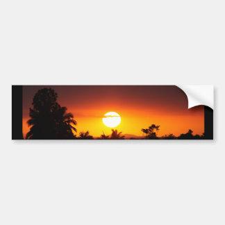 Pegatina Para Coche Puesta del sol I de la isla