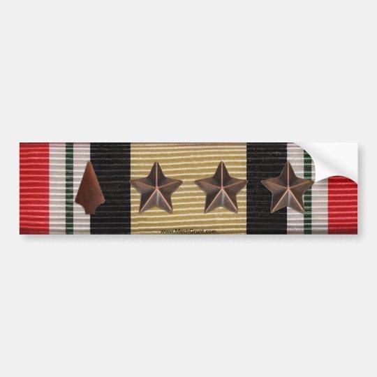 Pegatina Para Coche Punta de flecha de la cinta de la campaña de Iraq