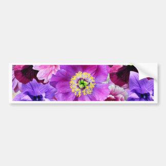 Pegatina Para Coche Purple flowers