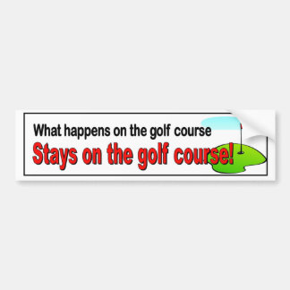 Pegatina Para Coche Qué sucede en las estancias del campo de golf en
