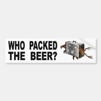 Pegatina Para Coche ¿Quién embaló la cerveza?