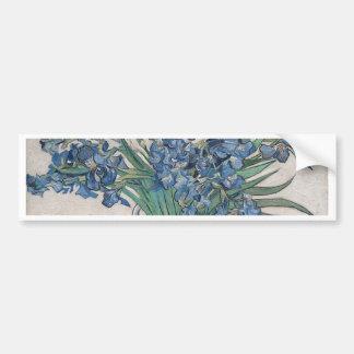 Pegatina Para Coche Ramo de flores en sombra azul
