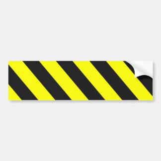 Pegatina Para Coche Rayas amonestadoras negras amarillas
