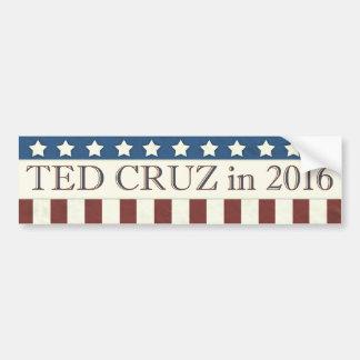 Pegatina Para Coche Rayas del presidente 2016 estrellas de Ted Cruz