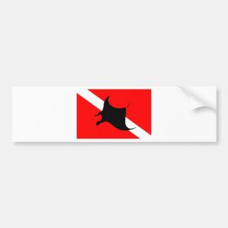 Pegatina Para Coche Rayo de Manta de la bandera de la zambullida