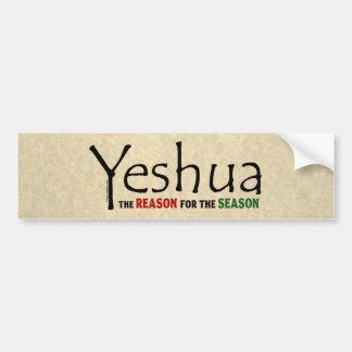 Pegatina Para Coche Razón del navidad de Yeshua Jesús de la estación