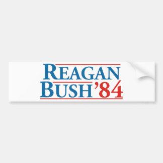 Pegatina Para Coche Reagan Bush '84