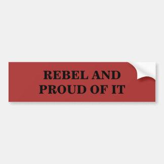 Pegatina Para Coche Rebelde y orgulloso de él