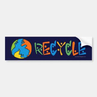 Pegatina Para Coche Reciclaje colorido
