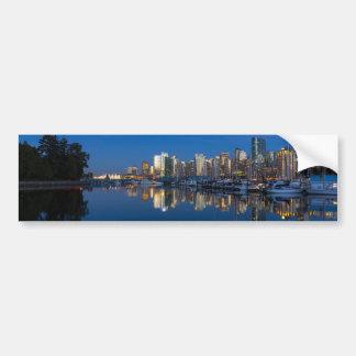 Pegatina Para Coche Reflexión azul de la hora de Vancouver A.C.