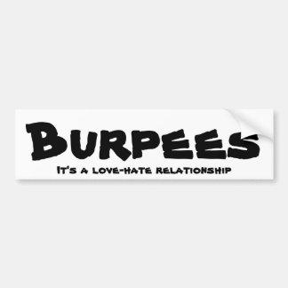 Pegatina Para Coche Relación del amor/del odio de Burpees