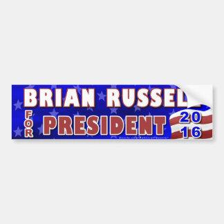 Pegatina Para Coche Republicano 2016 del presidente elección de Brian