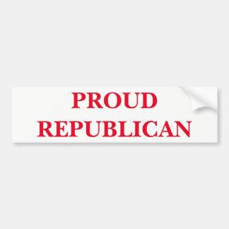 Pegatina Para Coche Republicano orgulloso
